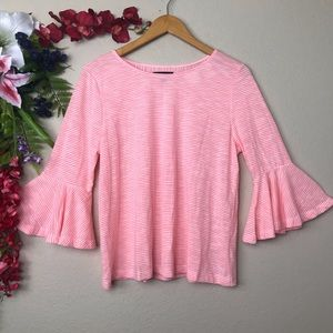 LANE BRYANT NWT pink bell sleeve striped top